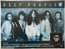 DEEP PURPLE Perfect Strangers Rare Original Official UK Record Company POSTER