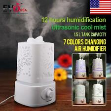 New Hot Aroma Diffuser Ultrasonic Humidifier Air Aromatherapy Purifier USA