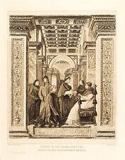 Peter stelo-dopo Melozzo poiché FORLI-SIXTUS IV. & nepoten-ACQUAFORTE 1915