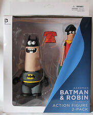 Aardman & DC Comics Collectors Classic Batman & Robin Action Figures UK Seller