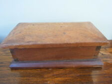 Vintage wooden box, shed art, school project, stationery, jewellery, desk, pens