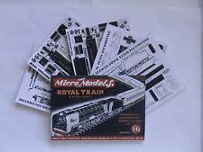 Micromodels ROYAL TRAIN S.A. RAILWAYS SET CII Micro New Models card kit
