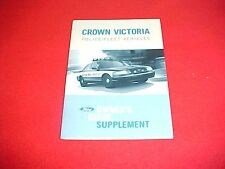 2007 FORD CROWN VICTORIA POLICE FLEET NEW SUPPLEMENT ONLY OWNERS MANUAL SERVICE