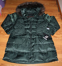 NWT Womens 1 MADISON Dark Jade Green Luxe Jacket  Down Puffer Coat Sz M Medium