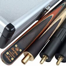 Jian Ying 3/4 piece Handmade Ash Snooker Cue set W/ Case Extension Rosewood.TSC9