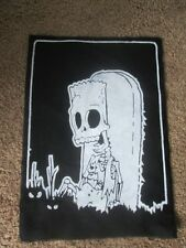 Dead Bart Simpson Back Patch -  90's - Horror - Punk - Hardcore - The Simpsons.