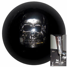 Black Skull shift knob for Dodge Chrys Jeep auto stick w/ adapter