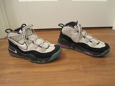 Used Worn Size 9 Nike Air Max Uptempo Shoes Black White Pink Retro