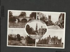 Real Photo Multi View  Postcard Starord-Burghley Bridge-High Street Posted 1947