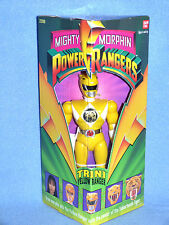 "Mighty Morphin Power Rangers Original 8"" Amarillo Ranger Menta en Caja Sellada"