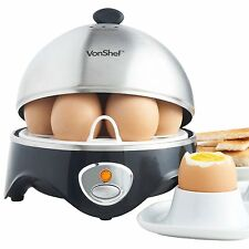 New Electric Egg Boiler Cooker Steamer Poacher Kitchen Stainless Steel Tool gift
