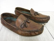 H.S. Trask Leather Loafers Driving Moccasins Trashed Men's 10 M