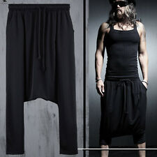 ByTheR Men's Urban Punk Black Baggy Aladdin Pants Design Clothing Gothic Skirt