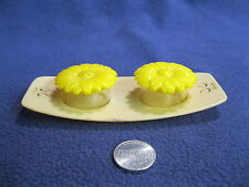 Vintage Plastic Daisy on Tray Salt and Pepper Shakers         86