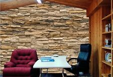 3D Stone Roll Modern Brick Wall Background Wall Wallpaper For Living Room Vinyl