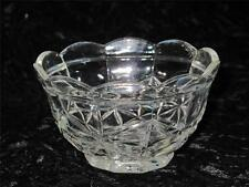 VINTAGE PRESSED GLASS BOWL Relief Diamond Pattern