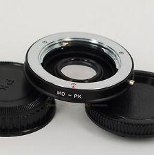Minolta MD/MC Lens to PENTAX PK Mount Adapter K7 K5 K3 K30 K50 KS1 KS2 w/ Glass