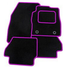 SMART FORTWO  2007 ONWARDS TAILORED BLACK CAR MATS WITH PINK TRIM