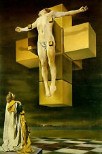 Framed Print - Salvador Dali Crucifixion Hypercube (Picture Poster Painting Art)