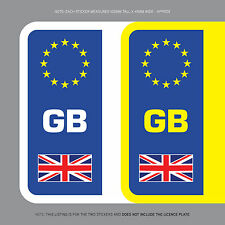 SKU1105 2 x GB Euro Number Plate Stickers EU European Road Legal Car Badge Vinyl