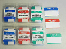 "600 ""HELLO MY NAME IS"" NAME TAGS LABELS BADGES STICKERS PEEL STICK ADHESIVE"