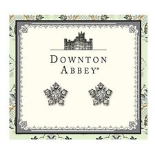 The Downton Abbey Collection Silver Starburst Button Earrings 17587 Free Shippin