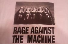 "2 Sided Print RAGE AGAINST THE MACHINE ""NUNS WITH GUNS"" Concert T-SHIRT"