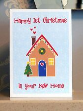 Happy First Christmas In Your New Home Card - New House 1st Xmas Greeting Cards