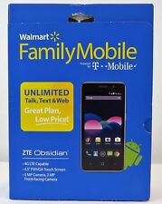 ZTE Obsidian Smartphone Walmart Family Mobile Powered by TMobile Network - NEW