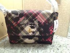 Vivienne Westwood Derby Roses Large Plaid Handbag 6776V
