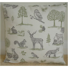 """18"""" Cushion Cover Foxes Stags Squirrel Rabbit Owl Tree Fox Stag Squirrel Rabbit"""