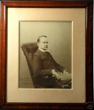 "Outstanding SHERIFF/LAWMAN w/BADGE, Huge Framed 21""x18"" Photo, Signed/Dated 1896"