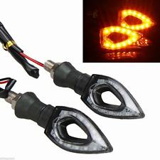4pcs Universal Motorcycle 12 LED Turn Signal Indicators Blinker Amber Light sz