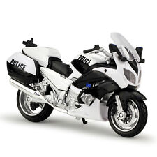 1:18 Maisto YAMAHA FJR1300A police Motorcycle Bike Model White B#