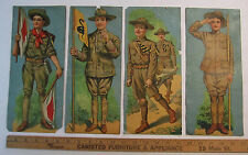 RARE - Early Boy Scouts - Set of 4 Prints - ca 1910 - WWI era - BSA Antique