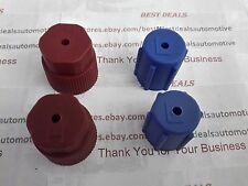 4 A/C Charging Port  Service Caps, R134a,13mm & 16mm 02Red & 02 Blue