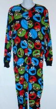 Sesame St ELMO Cookie Monster Oscar Grouch Footed Pajamas Costume NEW M LAST ONE
