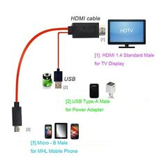MHL Micro USB to HDMI 1080P HDTV Adapter Cable for Samsung Galaxy S 3 4 5 Note 4