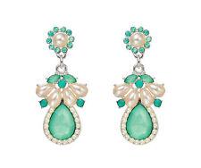 Nuovo di zecca Green Sfaccettato Gemma Orecchini pendenti d'argento
