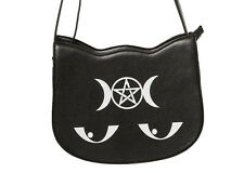 Banned Apparel Gothic Pentagram Occult Illuminati Kitty Messenger Bag Handbag