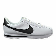 MEN'S NIKE CORTEZ BASIC LEATHER SHOES SIZE 8.5 white black silver 819719 100