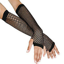 Fishnet Mesh Net Gloves 80s Hen Night Stage Fancy Dress Costume Accessories hot
