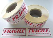 Fragile labels,stickers 500 on a roll (Not Sheets) 85mm x 34mm