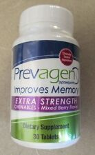 NEW Prevagen Extra Strength Chewables Berry Flavor 30 tablets Improves Memory