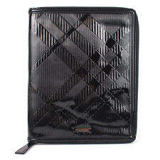 100% Authentic Burberry Embossed Patent Leather iPad Case Cover