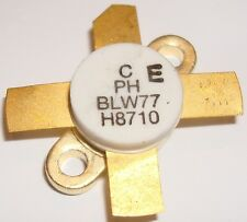 BLW77  RF POWER TRANSISTORS  130W 28V  1.6-28MHz GOLD  Made In Holland