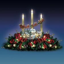 THOMAS KINKADE LIGHTED LIFE LIKE FLORAL VILLAGE CHRISTMAS HOLIDAY DECOR NEW