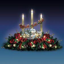 THOMAS KINKADE LIGHTED LIFE LIKE FLORAL VILLAGE CHRISTMAS HOLIDAY DECOR NEW