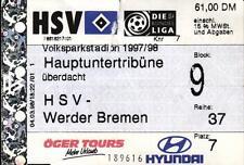 Ticket BL 97/98 Hamburger SV - SV Werder Bremen, Hauptuntertribüne