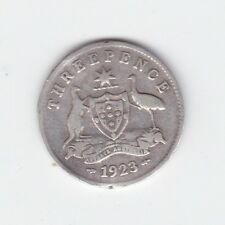 1923 Sterling Silver Threepence 3P Coin Australia W-546
